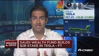 Download Saudi wealth fund builds $2B stake in Tesla: FT Video