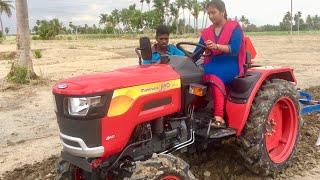Download Village Girl Driving Mahindra mini tractor & cultivator   MAHINDRA JIVO 245 DI 4WD - Come to Village Video