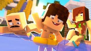 Download Minecraft: WHO'S YOUR FAMILY? - FAMÍLIA NO PARQUE AQUÁTICO! (Pool Party) Video