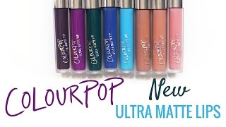 Download ColourPop Ultra Matte Lip Swatches (8 New Shades) Video