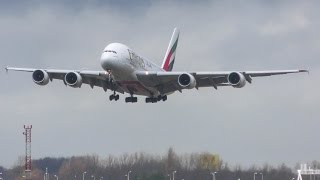 Download STORM at Schiphol AMS! Spectacular GO AROUND A380 Emirates! (4K) Video