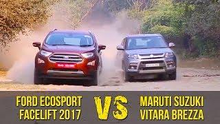 Download Ford EcoSport Facelift 2017 Vs Maruti Suzuki Vitara Brezza | Clash Of The Titans Video