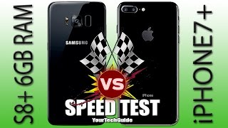 Download Galaxy S8 Plus 6GB RAM vs iPhone 7 Plus Speed Test! (S7 Edge you're NEXT) Video