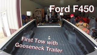 Download Towing our Gooseneck Trailer with my Ford F450 for the First Time Video