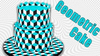 Download Optical Illusion Geometric Cake Tutorial by Cookies Cupcakes and Cardio Video