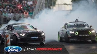 Download Battle of the Mustangs: Vaughn Gittin Jr. vs Justin Pawlak   Formula DRIFT   Ford Performance Video