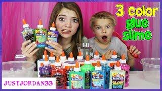 Download 3 Colors Of Glue Slime Challenge! / JustJordan33 Video