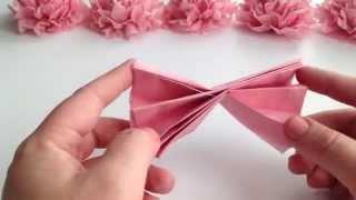 Download DIY Tissue Paper Flower Tutorial Video