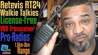 Download Retevis RT24 License-Free PMR446 Walkie Talkies 🔊 : LGTV Review Video