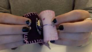 Download Felt Wrist Cuff - Functional and Aesthetic Features Video