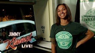 Download Jimmy Kimmel Talks to People Buying Weed at Marijuana Drive-Thru in Vegas Video