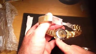 Download gold MCE see thru with glass back, automatic Video