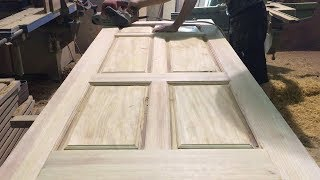 Download Amazing Woodworking Skill Of Carpenter // Modern Wooden Door Build For Home 2018 Video