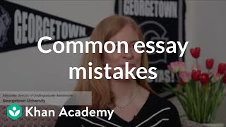 Download Avoiding common admissions essay mistakes Video