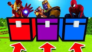 Download Minecraft PE : DO NOT CHOOSE THE WRONG CHEST! (Iron Man, Thanos & Spiderman) Video