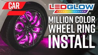 Download LEDGlow | How To Install An LED Wheel Ring Lighting Kit On A Car Video