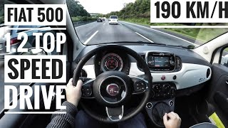 Download Fiat 500 1.2 (2017) | POV Drive on German Autobahn - Top Speed Drive (60 FPS) Video