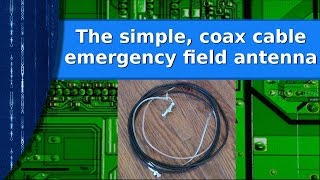 Download Ham Radio - The simple coax cable emergency prepper antenna. Video