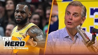 Download Colin reacts to LeBron's regular season debut with the Los Angeles Lakers | NBA | THE HERD Video