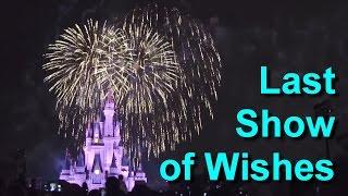 Download Final Last Show of Wishes Fireworks Magic Kingdom, Walt Disney World May 11, 2017 Video