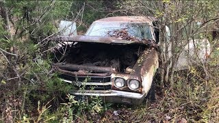 Download MYSTERY LS6 SS454 1970 CHEVELLE WAS DRIVEN INTO THE WOODS AND ABANDONED!!! Video