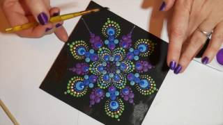 Download How to paint dot mandalas with Kristin Uhrig #6- Peacock design Video