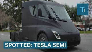 Download A Tesla Semi Was Spotted On A Public Road — Here's An Update On The Truck Video