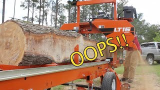 Download I Made a HUGE Rookie Mistake Milling this Sweet Gum Log! Video