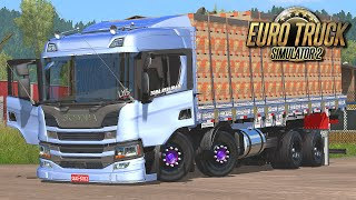 Download Scania P360 Bitruck Carregada de Maracujá - Euro Truck 2 Video