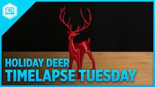 Download Holiday Christmas Deer - Timelapse Tuesday #3DPrinting Video