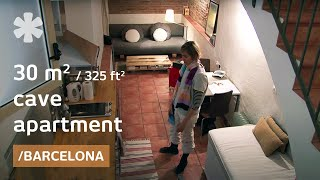 Download 325-square-foot ″cave″ apartment with DIY & upcycled furniture Video