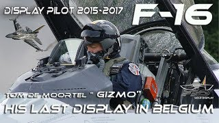 Download F-16 4K UHD 2015-2017 F16 Solo Display ″Gizmo″ Tom de Moortel Falcon /Viper Airshow 2017 HD HQ Video