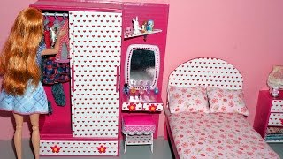 Download How to make a wardrobe with a dressing/vanity table for dolls - miniature crafts DIY Video