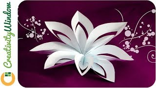 Download Layered Paper Flower Cutting and Folding Technique Video