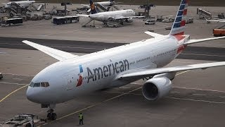 Download American Airlines Boeing 777-200ER - Pushback/Taxi/Takeoff at Frankfurt Video