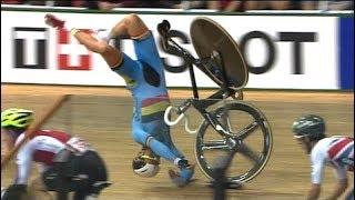 Download Les plus grosses chutes du cyclisme sur piste (track cycling) Video