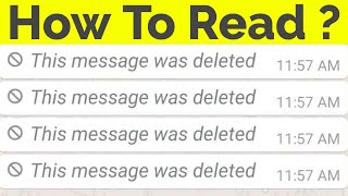 Download How To Read Deleted Messages On Whatsapp Messenger||This Message Was Deleted Video