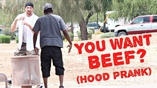 Download DO YOU WANT BEEF PRANK IN THE HOOD!! Video