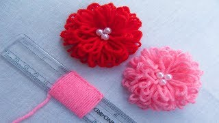 Download Hand Embroidery Amazing Trick# Easy Flower Embroidery Trick with Scale# Sewing Hack Video