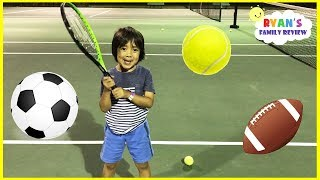 Download Ryan's Tennis Practice and Family Fun Shopping Trip Toy Hunt + Extreme Warheads Sour Candy Challenge Video