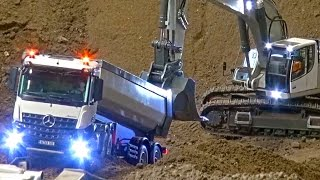 Download RC Truck Action at The Stonebreaker-Area! MB Arocs! Scania! MAN! Liebherr! Komatsu! Video