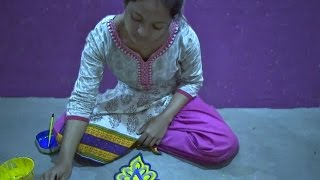 Download Simple 5 dots rangoli designs,Alpona designs Video