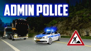 Download ETS2 MP - Admin Police Controlling Busy Traffic At Road Works Site Video