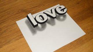 Download Простое 3D Граффити Как нарисовать иллюзию LOVE Video
