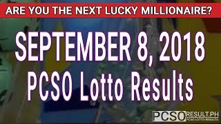 Download PCSO Lotto Results Today September 8, 2018 (6/55, 6/42, 6D, Swertres, STL & EZ2) Video