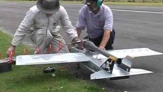 Download Pulsejet powered World Models TameCat RC plane, maiden flight Video