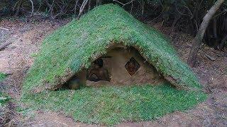 Download Build wooden house underground Video