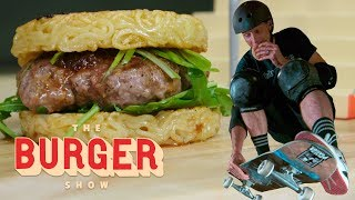 Download Tony Hawk Skates and Eats Iconic Burgers   The Burger Show Video