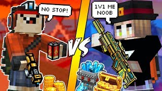 Download BULLY THOUGHT HE'S GOOD IN PIXEL GUN 3D, I TAUGHT HIM A LIFE LESSON INSTEAD..(RAGE QUIT) Video