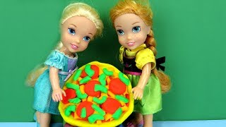 Download PIZZA Night ! Elsa and Anna toddlers make pizza Video